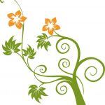 Flowers and Swirls Vector Graphic Preview