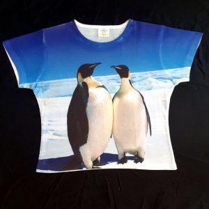 Ženska majica kratki rokav M pingvin